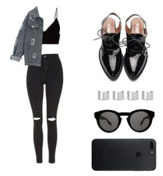 """""""Untitled #103"""" by mindongalsxy ❤ liked on Polyvore featuring Topshop, T By Alexander Wang, Maison Margiela and Givenchy"""