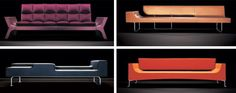 Love these couches by Antidiva. Especially the pink one