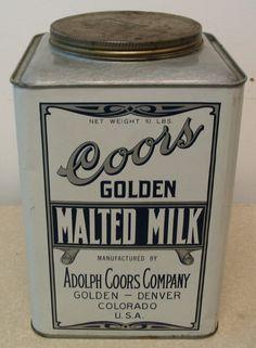 Coors Malted Milk Tin