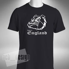 MADE IN ENGLAND T-SHIRT Various Colours and Sizes Crew Neck Gildan Loose Fit