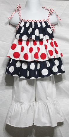 Girls Ruffle Top sz12mo -6yrs by outtahand on Etsy