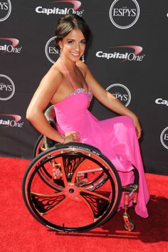 Paralympics Swimmer Victoria Arlen arriving at the ESPY Awards