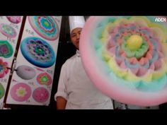 Cotton Candy Flower - the biggest in the world / 綿菓子 / 솜사탕 / Zuckerwatte / Algodón de Azúcar - YouTube