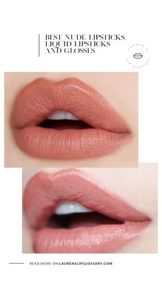 Best Nude Lipsticks , Liquid Lipsticks, and Glosses - Lauren's Lip Glossary Best Lipstick Color, Best Lipsticks, Nude Lipstick, Lipstick Colors, Liquid Lipstick, Lip Colors, Perfect Lipstick, Old Lady Makeup, Makeup Tips