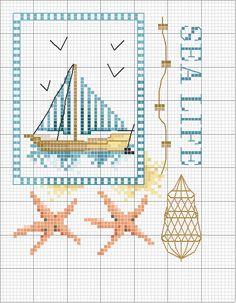 Schema punto croce Vita marina