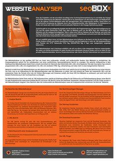 WebsiteAnalyser - Product description in german language.