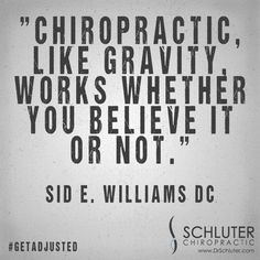 It's science. #getadjusted #chiropractic http://www.DrSchluter.com
