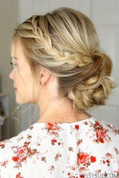 Rope Braid Low Bun - Swoon-worthy Summer Wedding Hairstyles - Southernliving. A subtle braid adds effortless interest to this updo.