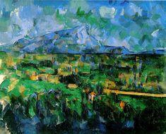 "Paul Cezanne MONT SAINTE-VICTOIRE SEEN FROM LES LAUVES 1902-06, o/c, 25.5 x 32"", Private Collection POST IMPRESSIONISM"