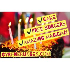 Join Us at Gyrene Burger on Thursday night from 5 until close for our birthday celebration! We will be giving you a free burger with purchase of fries and a drink, and we will have cake and a magician too!  ************************************************* Order Online Now ➡️ www.GyreneBurger.com 281-5426  #Happy1stYear #GyreneBurger1stYear #burger #knoxville #burgers #fortsanders #tennessee #cumberland #Gyrene #LocalKnoxvilleEvent #knoxvillebestburger #gyreneburgerkx #gyreneburger…