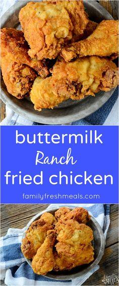 The Best Buttermilk Ranch Chicken Recipe - familyfreshmeals.com - The family loves this blue ribbon recipe!