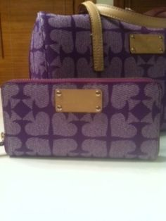AUTHENTIC Kate Spade Neda Pebbled Ace of Spades Zip Around Wallet - $120