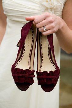 10c085fb492bf Adventure-Themed California Wedding  bridalshoes Burgundy Wedding Shoes