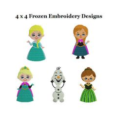 Frozen Embroidery Design Sets  Frozen Full Fill by StitchValley