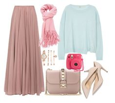 """Hijab Outfit"" by ernaaprastia on Polyvore featuring Lara Khoury, J Brand, Valentino and Anne Klein"