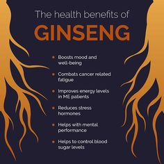 The Health Benefits of Ginseng - Healthy Life  The ginseng plant has traditionally been used as a herbal remedy for thousands of years to help with fatigue, boosting mood and controlling blood sugar levels.