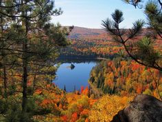 "Der wahre ""Indian Summer"", lac aux chevaux, La-Mauricie-Nationalpark, Quebec (Foto von SK-Kundin I. Meier)"
