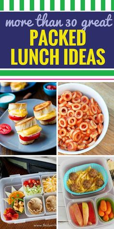 Do you dread packing lunches? These 30 packed lunch ideas are healthy and easy and will inspire you to pack healthy lunches for school every day of the week. From sandwiches to soup and even lunches you can make ahead, these lunch ideas are g Kids Packed Lunch, Healthy Packed Lunches, Kids Lunch For School, Healthy School Lunches, Make Ahead Lunches, Lunch Snacks, Healthy Snacks For Kids, Clean Eating Snacks, Kid Snacks