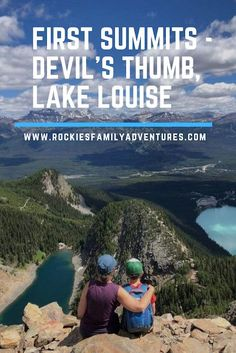 Hike above Lake Louise to the top of the Devil's Thumb summit above Lake Agnes and the Big Beehive.   #alberta #canada #canadianrockies #banff #lakelouise #hiking #outdoorfamilies #activefamily #scrambling #climbing #explorecanada Canada National Parks, Banff National Park, Hiking With Kids, Go Hiking, Canadian Travel, Canadian Rockies, Ontario Travel, Camping Places, Adventure Activities