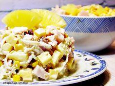 sałatka na święta z ananasem
