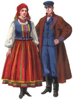 Folk Costume, Costumes, Polish Folk Art, European Dress, Folklore, Poland, Culture, Traditional, How To Wear