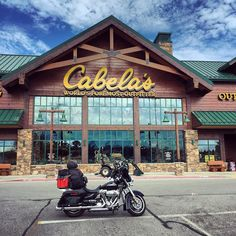 I visited my first @cabelas today and WOW - an outdoorsman's heaven  I could have spent all day in there but I proudly only purchased a new @nalgeneco water bottle which was the reason for the trip #cabelas #nalgene #camping #heaven #wildchild #nature #bikelife #travel #adventure #explore #harleywomen #harleydavidson #streetglide #arkansas