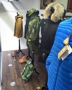 A very good Monday morning to you all - plenty of new deliveries last week and a new front window featuring new season goodness from @barbour @moncler @arkairltd @nobisinc @pyrenex_officiel @polerstuff and @ghbass1876  #philipbrownemenswear