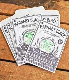 Barnaby Black — GARDEN STARTER SEED PACK