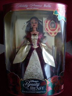 Belle Beauty And The Beast Holiday Princess 1997 2nd In The Series NIB #Mattel #Barbie