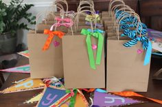Kid party gift bags