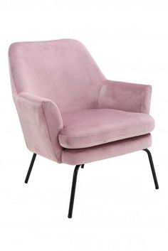 Poltrona in velluto rosa Chisa Soft Chair, Chair Bed, Diy Chair, Wingback Chair, Cosy Living, Em Home, Plastic Adirondack Chairs, Swivel Recliner, Penelope