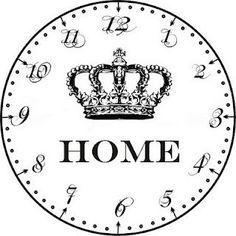 clock face by SAburns Face Template, Cool Clocks, Farmhouse Wall Clocks, Diy Clock, Gifts For Office, Vintage Diy, Clip Art, Printables, Cool Stuff