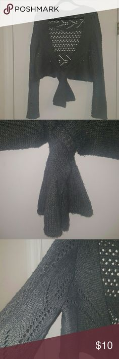 Shrug Sweater Charcoal gray.  Size 18/20. Good condition. Lane Bryant Sweaters Shrugs & Ponchos