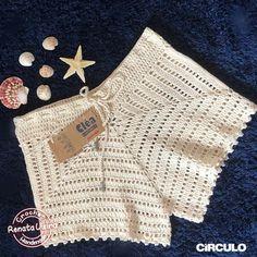 Crochet Shorts Pattern, Crochet Pants, Crochet Skirts, Crochet Clothes, Knit Crochet, Crochet Patterns, Easy Crochet Projects, Knitting Projects, Crochet Towel