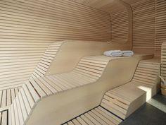 Sauna im Privat-Spa Infared Sauna, Steam Shower Cabin, Private Sauna, Portable Steam Sauna, Pool Table Room, Sauna Design, Sauna Room, Spa Rooms, Relaxing Bath