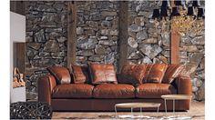Hugh Leather Sofa   Domayne