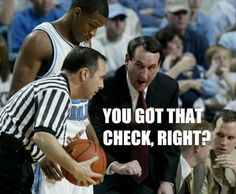LMAO!!!!' Glad to know I'm not the only one who thinks this about mike and the refs!