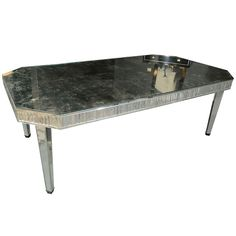 Spectacular Mirrored Dining Table in the Manner of Serge Roche   1stdibs.com