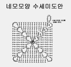 1.딱지모양 수세미 도안 딱지모양 수세미도안은 어떤 모양으로 떠도 상관은 없고 가로(45cm)와 세로(5.5cm)... Crochet Granny, Crochet Doilies, Crochet Edging Patterns, Crochet Christmas Trees, Knitting Stitches, Beautiful Patterns, Free Pattern, Diy And Crafts, Embroidery