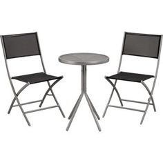 Buy Kara 2 Seater Garden Bistro Furniture Set - Black at Argos.co.uk - Your Online Shop for Garden table and chair sets.