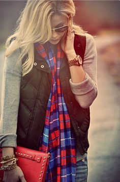 Fall down vest and flannel