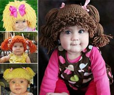 These Cabbage Patch hats are button cute and imagine the fun photos you can take! Check out the FREE Patterns now.