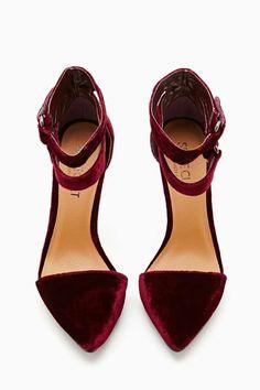 Shoe Cult Faye Platform Pump - Oxblood Velvet