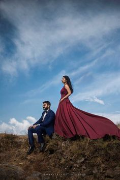 Breathtaking Christian Pre-Wedding Shoot in the Hills. Check out photos, ideas & stories shared by Bride & Groom. Indian Wedding Couple Photography, Wedding Couple Poses Photography, Couple Photoshoot Poses, Pre Wedding Shoot Ideas, Pre Wedding Poses, Pre Wedding Photoshoot, Dress, Couple Beach Photos, 10 Years