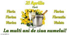 21 Aprilie - Florii Vegetables, Vegetable Recipes, Veggies