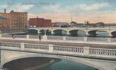 Twin Bridges / Waterloo, Iowa / By photolibrarian
