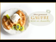 how to: miniature waffle with whipped cream and kiwi