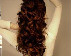 beautiful dark auburn hairrr ❤️