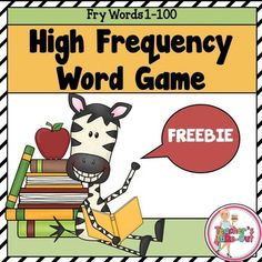 This fun game uses the First 100 High Frequency Words from the Fry word list. A game board and the first 100 words are included. Reading Help, Reading Centers, Teaching Reading, Reading Fluency, Reading Intervention, Math Centers, Teaching Ideas, Learning, Reading Resources