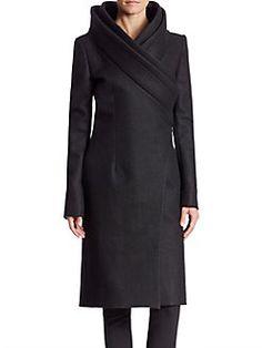 Brandon Maxwell - Double Collar Coat